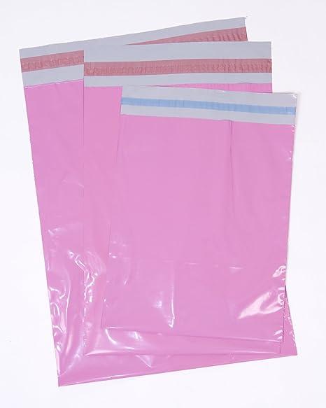 50 Bolsas para envíos postales, varios tamaños, color rosa