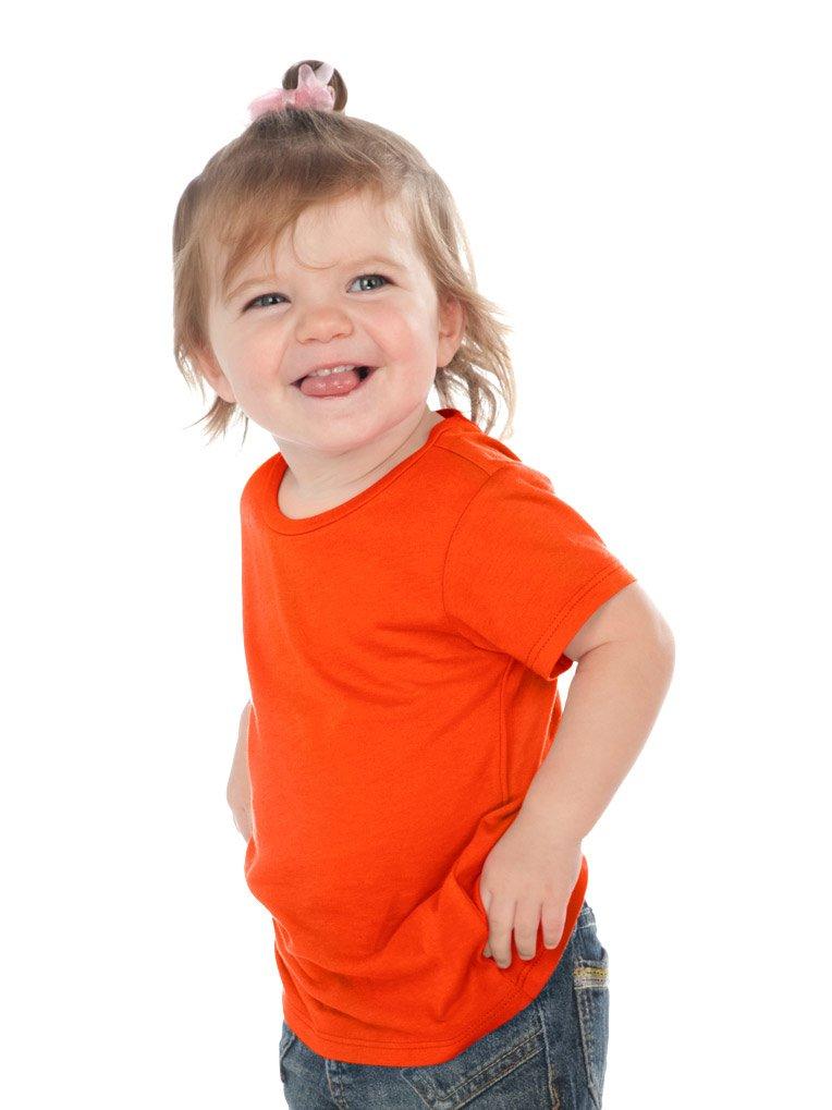 ecab238234804c Kavio! Unisex Infants Crew Neck Short Sleeve Tee (Same IJP0493) Varsity  Orange 24M
