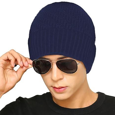 4e4fcfa591274 MPTECK   Azul Gorros hombre Beanie Moderno gorro invierno hombre Sombreros  de la gorrita tejida Gorros