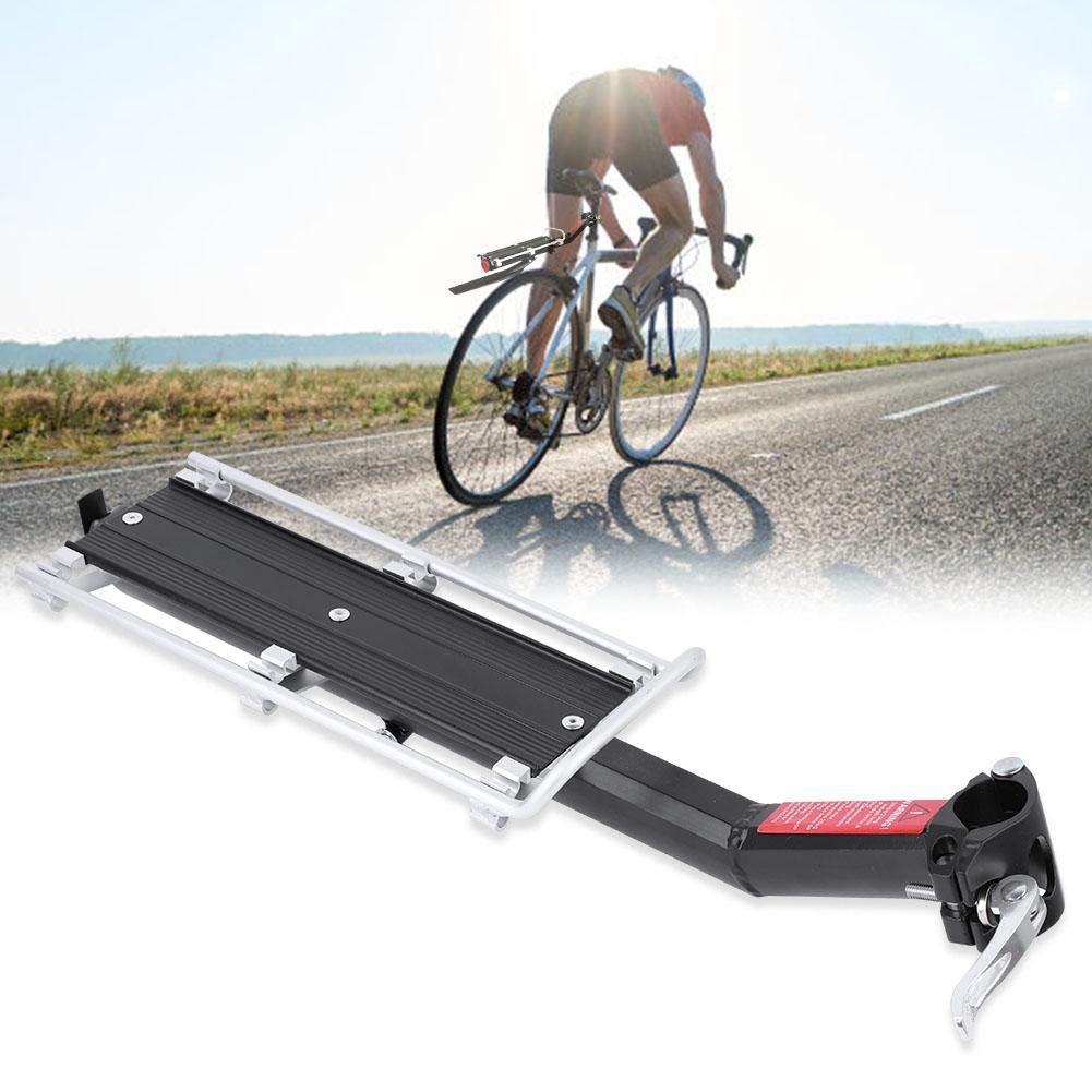 Asiento Trasero Portaequipajes Soporte de Equipaje de Bicicleta de aleaci/ón de Aluminio con Guardabarros VGBEY Portaequipajes para Bicicletas Cuerda