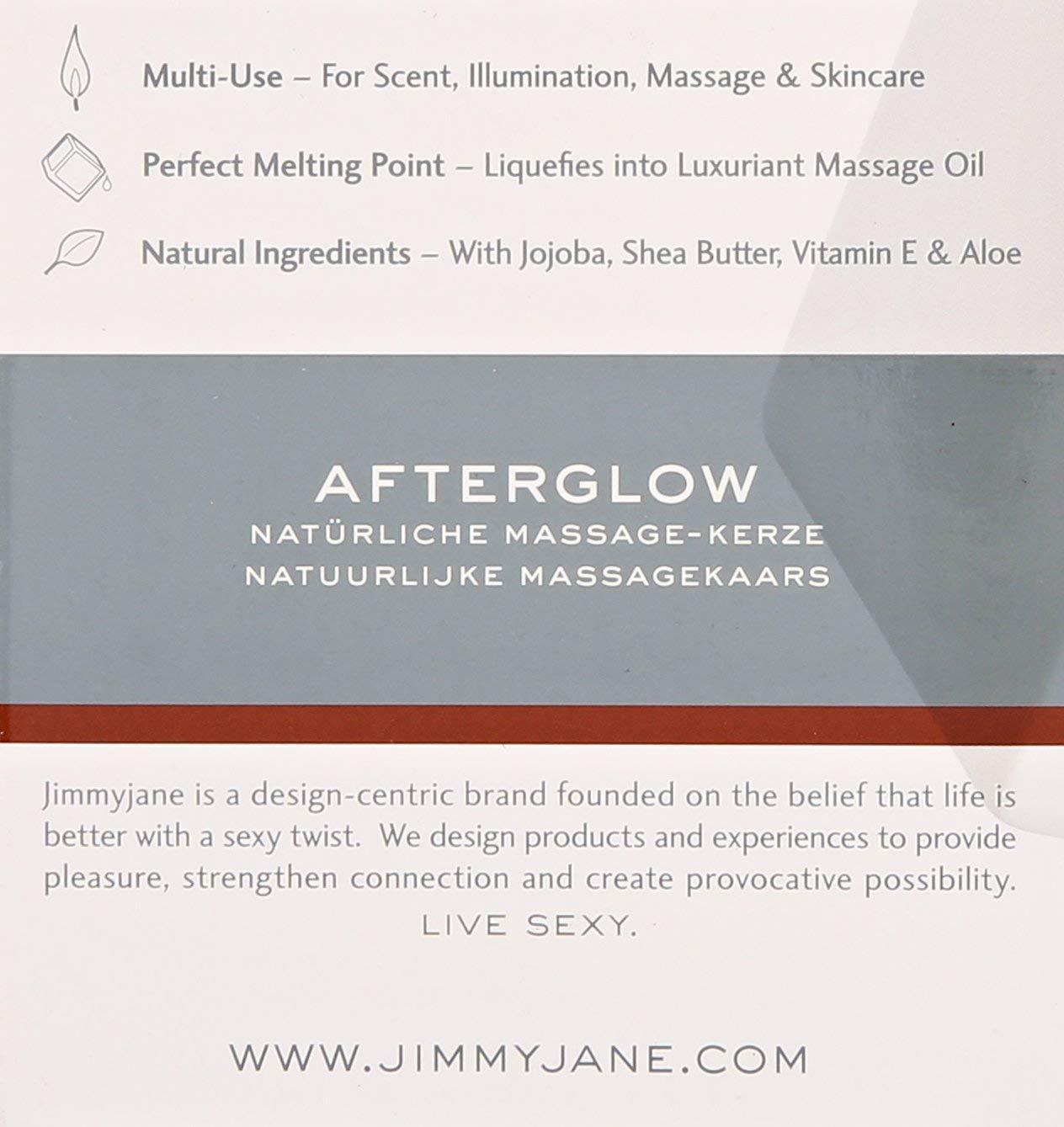 Jimmyjane Afterglow Massage Oil Candle, Dark Vanilla - Two pack