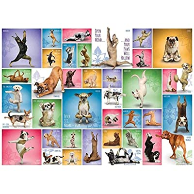 Puzzle 1000 Piece Jigsaw Puzzle for Adults,Bzdthh,Yoga Dogs,Every Piece is Unique,Pieces Fit Together Perfectly: Toys & Games