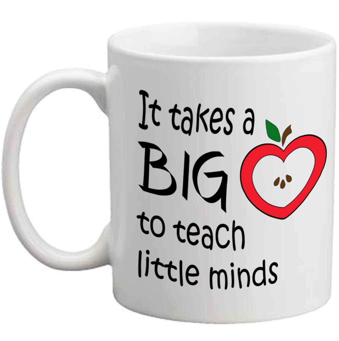 Teacher Gift Home School It Takes a Big Heart to Teach Little Minds