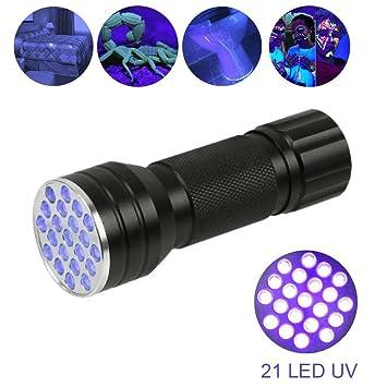 UV LED Flashlight Lila-licht Lampe Prüfgerät Ultraviolett Licht Taschenlampe DA