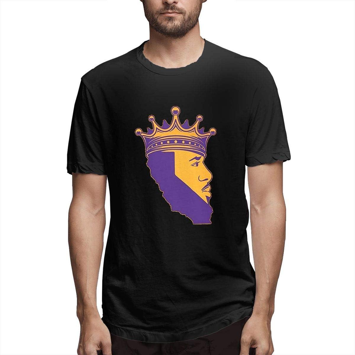 DLAZANA Crown King James Funny Short Sleeve T Shirt for Men