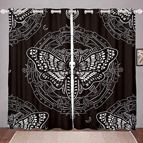 Feelyou Death Moth Window Curtain Panel