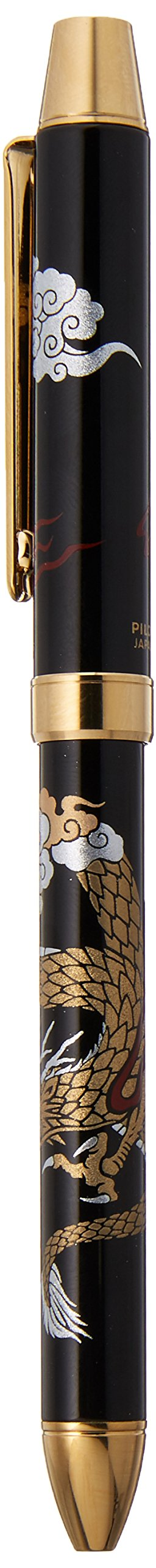 Pilot Mechanical Pencil, 0.5mm + Ballpoint Pen, 0.7mm, Fine, Black and Red, 2+1 Miyabi Emaki, Dragon (BTHM-5SR-R) by Pilot (Image #2)