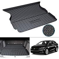 Mixsuper Custom Fit for Cargo Liner Tesla Model X 5 Passenger Trunk Mat Liner Durable All Weather Rear Trunk Floor Mat…