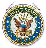 Amia Large Circle Suncatcher, United States Navy, 6.5-Inch