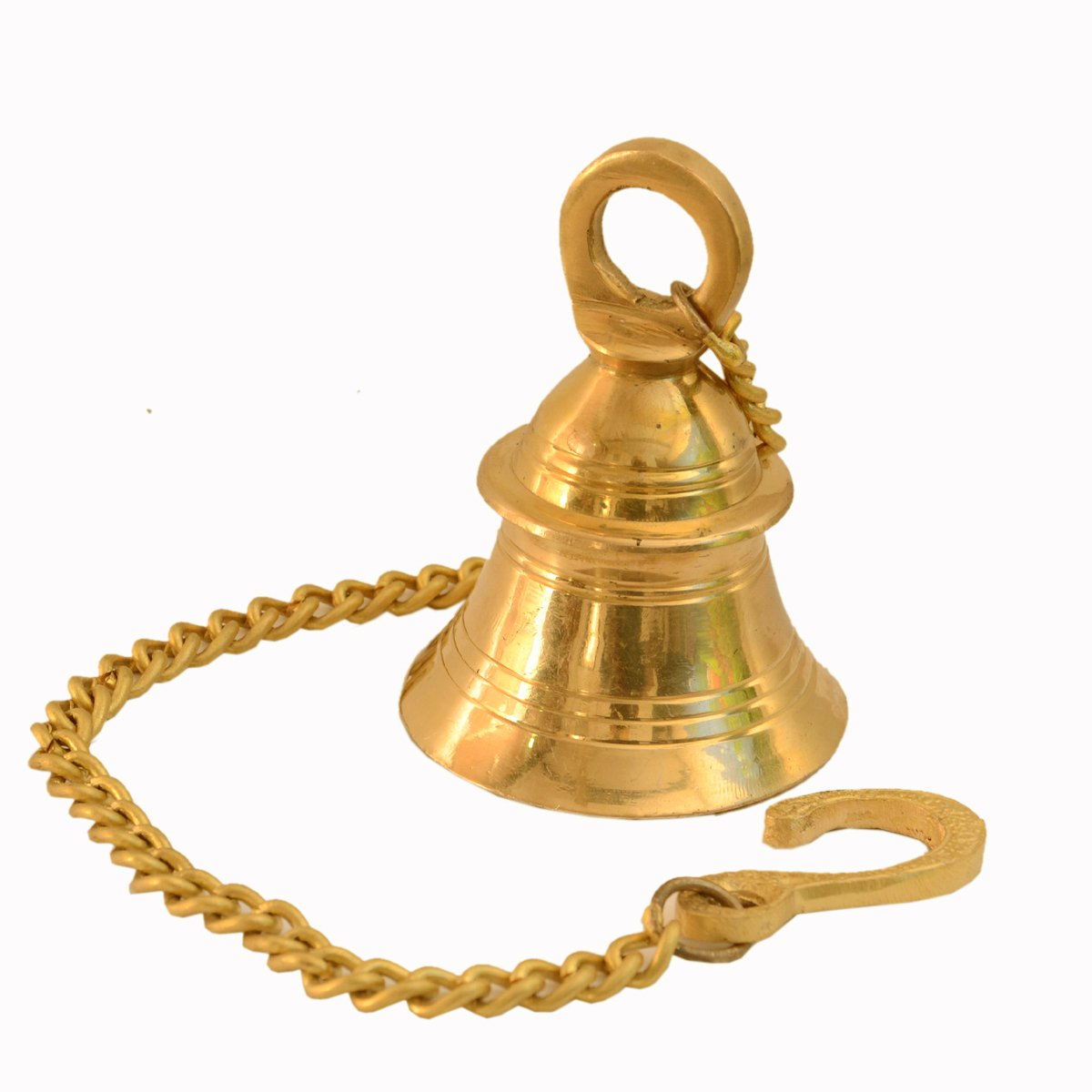 Purpledip Small Hanging Bell: Solid Brass Bell With Deep Sound (11005) by Purpledip