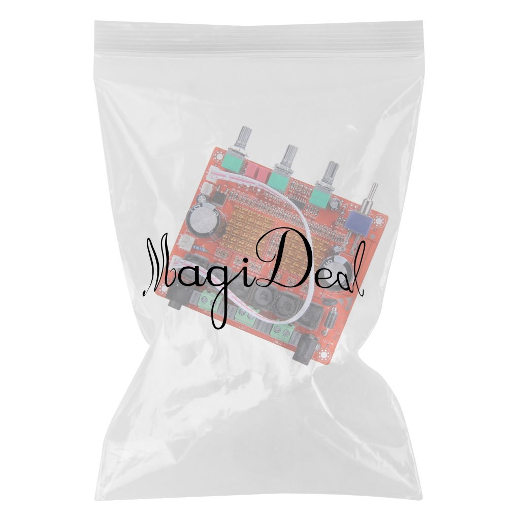 MagiDeal 2.1 12V 50w X 2 + 100W HiFi Subwoofer Digital Amplificador Placa 24V: Amazon.es: Electrónica
