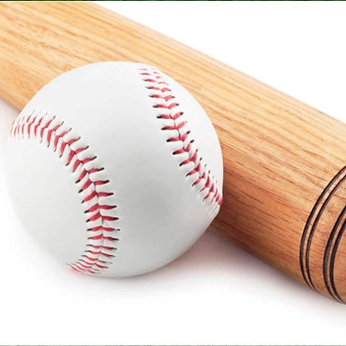 Fliyeong 1 Pcs Standard Taille en Cuir PU Baseball Suture T-Ball Convient pour Jouer La Comp/étition Entra/înement De Pratique
