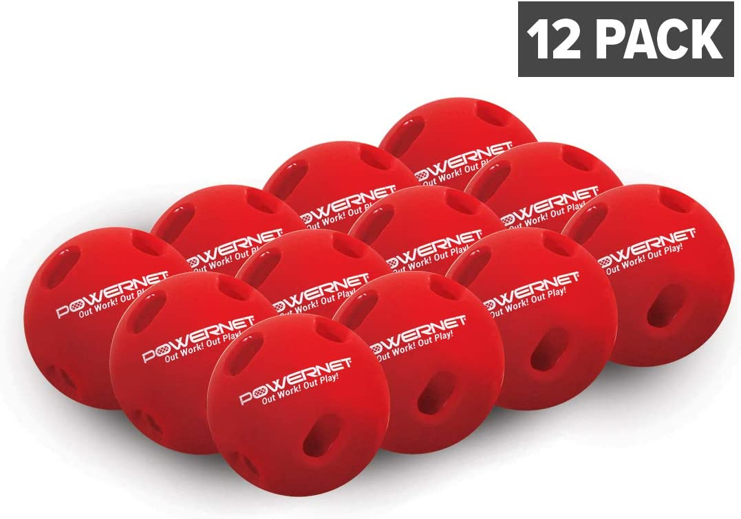 PowerNet Crushers Limited Flight Training Baseballs 12 PK | Batting Practice Ball for Pre-Game Warm Ups and Hitting Drills | Instant Batter Feedback Get Launch Angle and Hit Direction : Sports & Outdoors