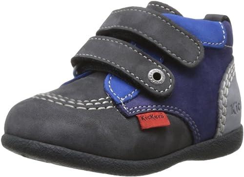 Kickers Babykick, Chaussures Montantes bébé garçon Bleu