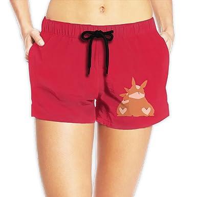 bf00291cf8 Cute Corgi Couple Butt Swim Board Short For Women at Amazon Women's  Clothing store: