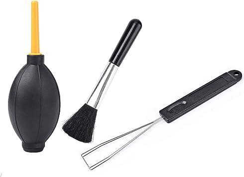 Hapurs 3 en 1 Herramientas de limpieza Accesorios Dust Blower Ball Rubber + Brush + Keycap Remover Herramientas de Limpieza para Filtro de Lente ...