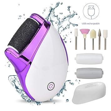 WaVes Set Manicura y Pedicura Profesional,USB Recargables Electrica Pies & 5 Sistema de pulido para las uñas Accesorios,Adecuado para el cuidado de ...