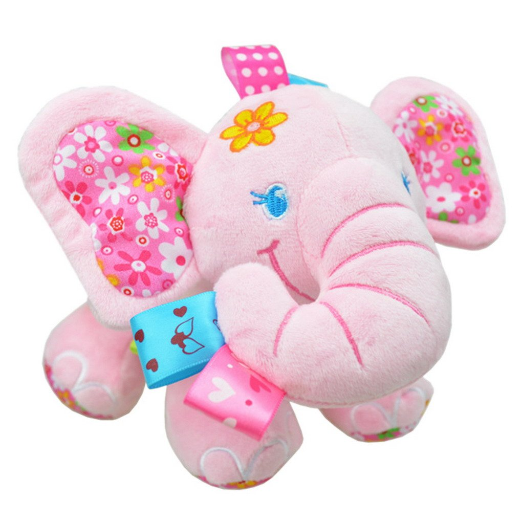 Happy cherry - Juguetes Colgantes Peluches de Animales para Arrastrar bebés niños niñas para cuna cochecito - elefante - azul