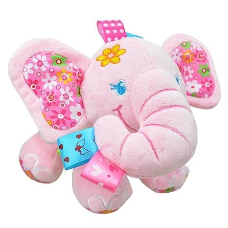 Para Niñas Cochecito Niños Animales Cuna Cherry Elefante Peluches Bebés Rosa Juguetes Happy Colgantes De Arrastrar 34L5ARj