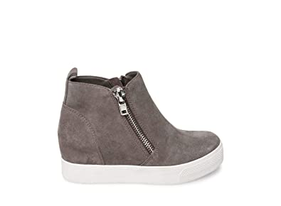 2a0cbcc040c Image Unavailable. Image not available for. Color  Steve Madden Women s  Wedgie Grey Suede Athletic ...