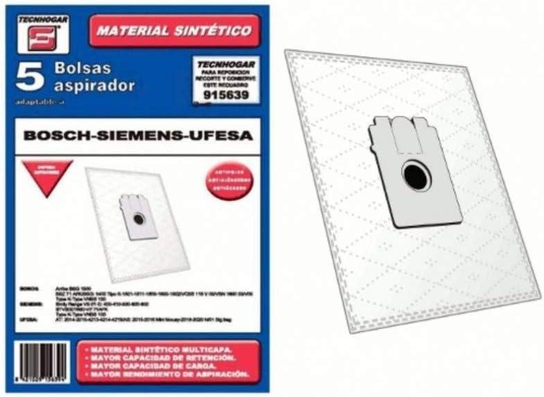 Recamania Bolsa Sintetica Aspirador Bosch Ufesa Compatible con ...