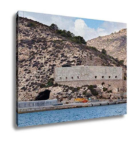 Ashley Canvas, Embankment And Fort Christmas On A Sunny Summer Day Cartagena Spain, Home Decoration Office, Ready to Hang, 20x25, AG6515752 by Ashley Canvas