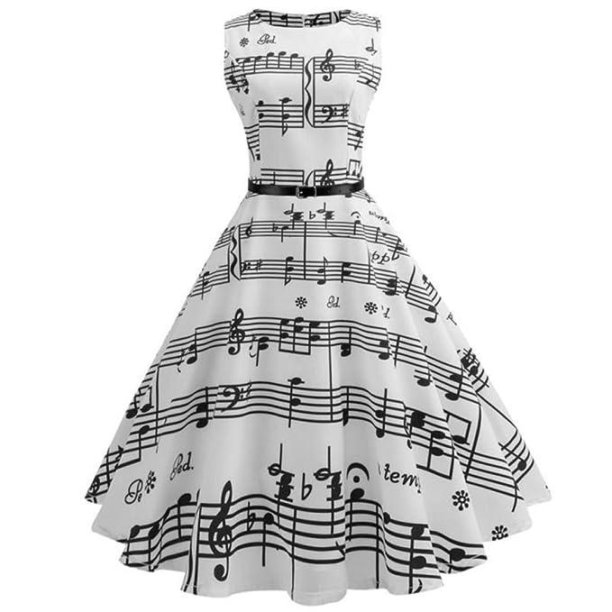 Covermason Kleider Damen Sommer Röcke Vintage Druck 10/5000 Ärmellos ...