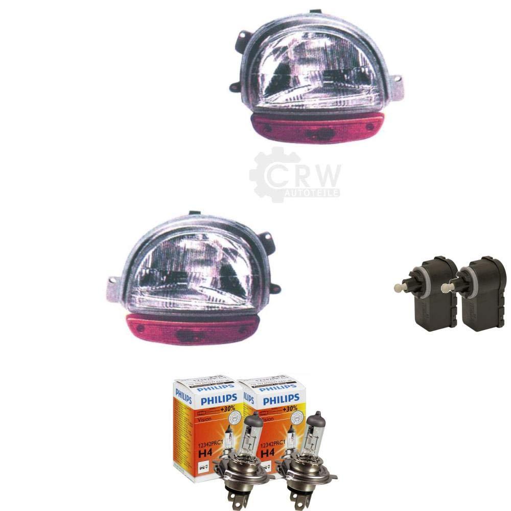 Scheinwerfer Set f/ür Twingo I 1 93-98 inkl PHILIPS Lampen Motor
