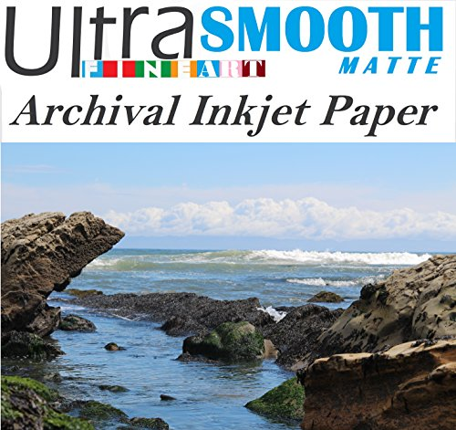 Ultrafine Smooth Matte FineArt 100% Cotton Rag Archival 320 gsm 17mil Inkjet Paper 16 x 20 / 50 Sheet Box C2S 2-Sided