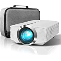 ELEPHAS Mini Projector, 3800 Lux Home Theater Video Projector Support 1080P with AV USB Micro SD Card HDMI for Movie…