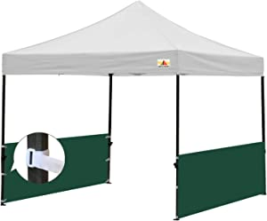 ABCCANOPY Sunwall Accessory, Two Half Walls for 10'x10', 10'x15', 10'x20' Pop Up Paty Canopy, 2 Half Walls Only. Canopy Purchased Separately (Forest Green)