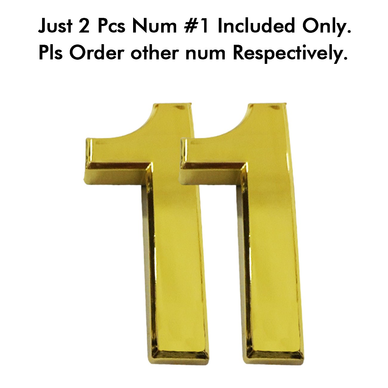 2 Pcs//Set Magic Decoration Magicdo 2-3//4 Door Numbers Floating Appearance 3D Mailbox Number Self-Stick Solid Metal Golden Number 8