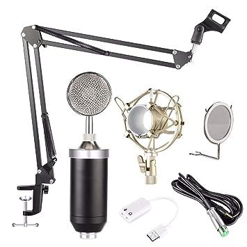 XIANGA Micrófono Kit de micrófono de Condensador de Estudio ...