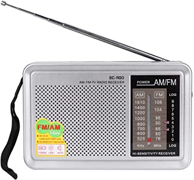 Mavis Laven Mini Radio Portátil, Radio de Bolsillo Am/FM/SW con Antena Telescópica, Plateado: Amazon.es: Electrónica