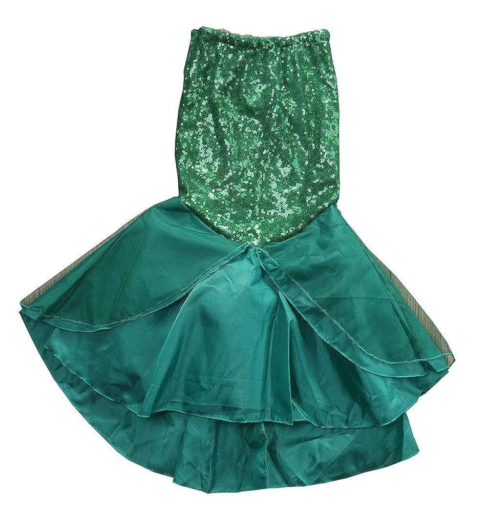 3f9e9ef2d0b74 IFLOVE Kids Girls Mermaid Costume Fancy Party Dresses Tail Skirt