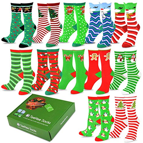TeeHee Christmas Holiday 12 Pack Socks product image