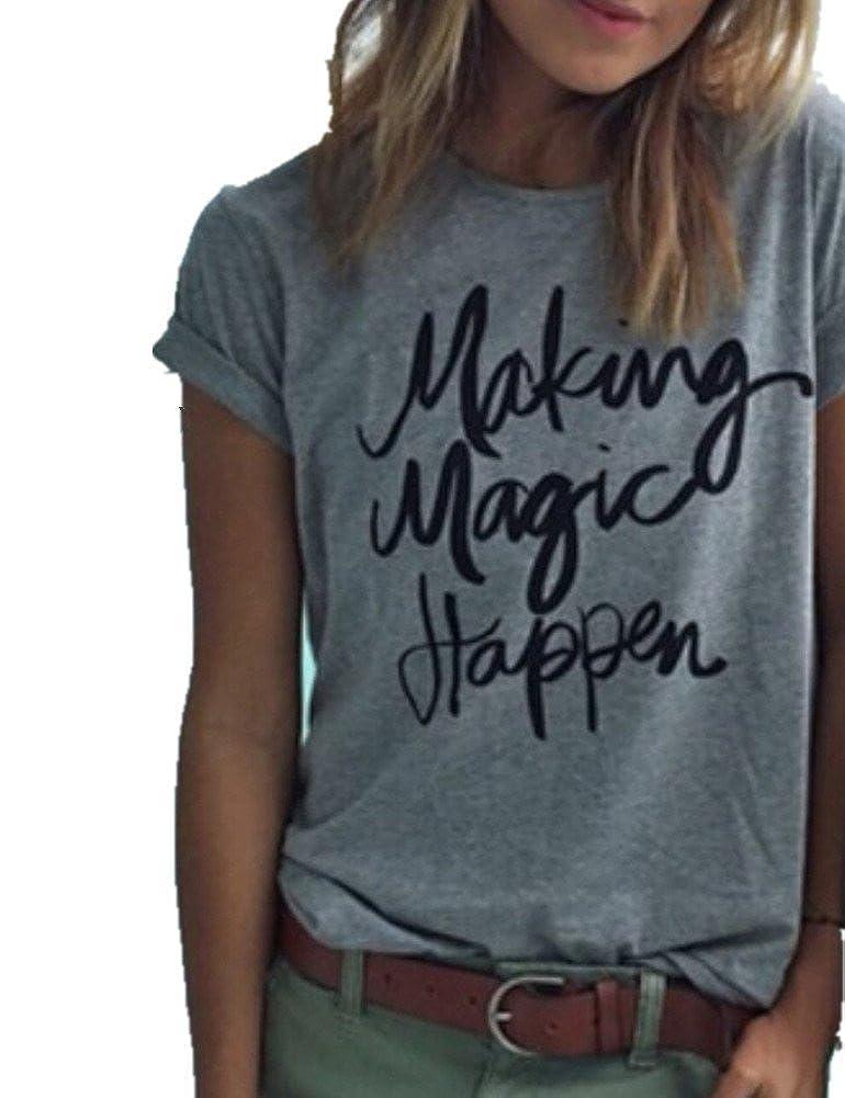 1eb430cdfda Haola Womens Summer Street Printed Tops Funny Juniors T Shirt Short Sleeve  Tees