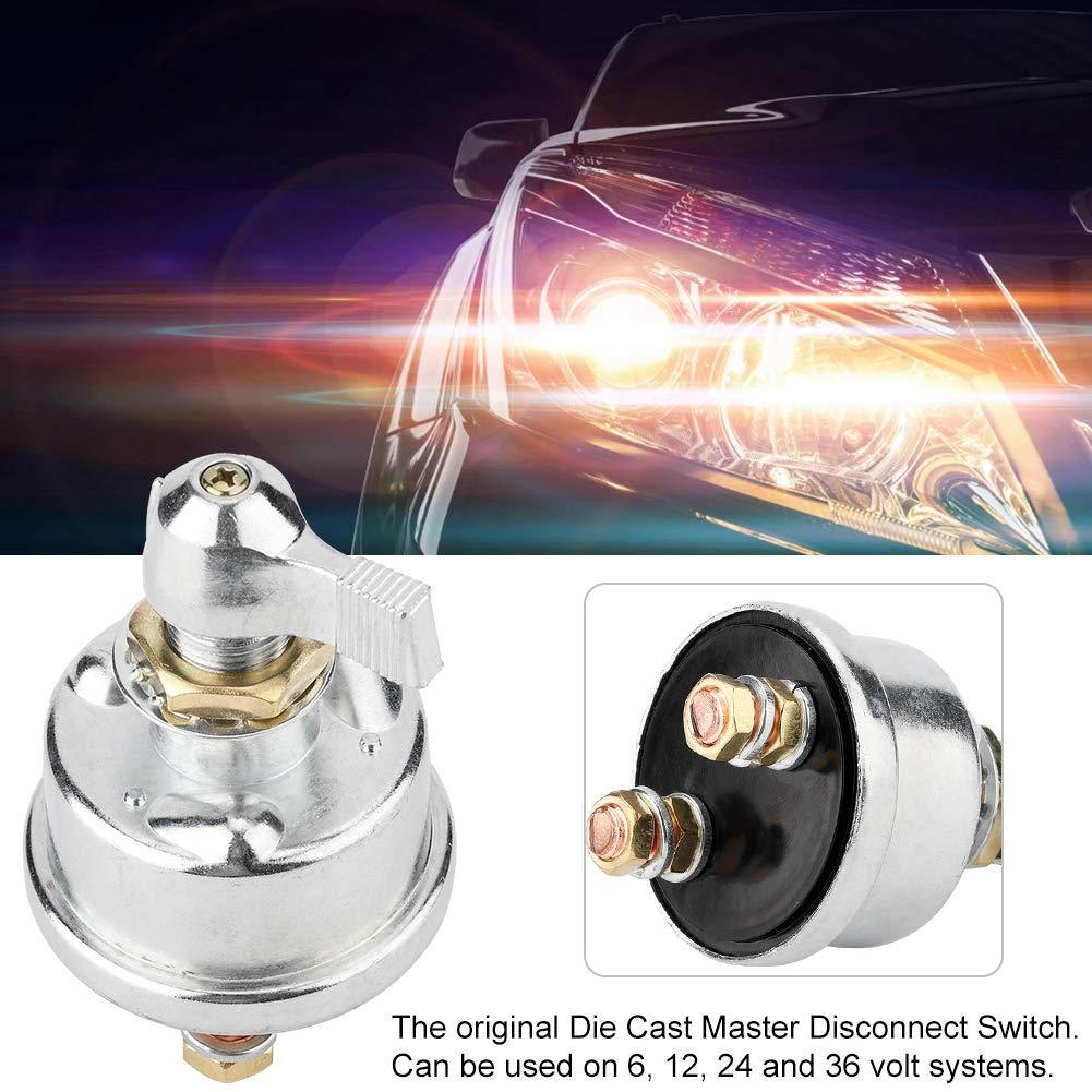 Aislador maestro de corte Gorgeri Interruptor de apagado universal de la bater/ía 12V 125A Kits de interruptor de apagado de bater/ía