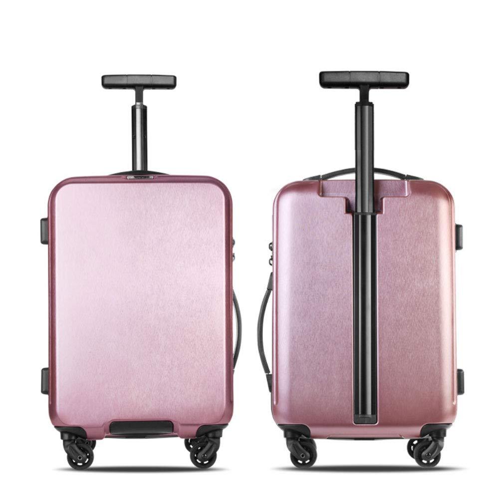 新しいシングルトロリー荷物起毛耐性フラワーボードシャーシサイレントホイールビジネススーツケース牽引ボックス (Color : ローズゴールド, Size : 24 inches)   B07RJBSDM1