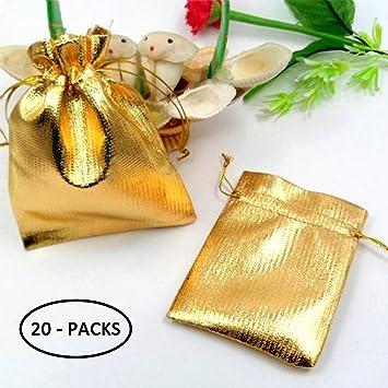 Amazon.com: Bolsas de regalo para fiesta de oro, pequeñas ...