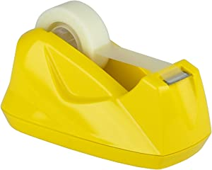 Acrimet Premium Desktop Tape Dispenser Non-Skid Base (Heavy Duty) (Yellow Color)