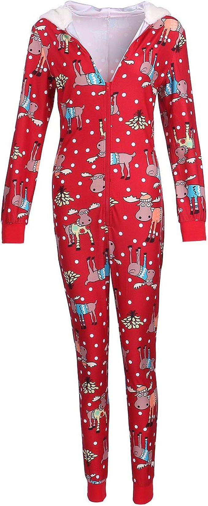 FULA-bao Mujeres Navidad Mono Pijamas Sexy Cuello en V ...