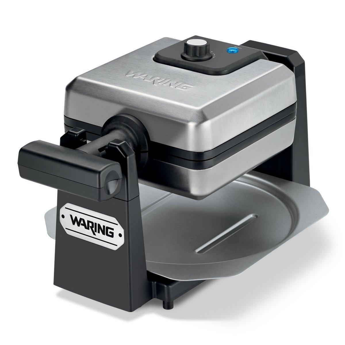 Waring Pro WMK250SQ 4-Slice Belgian Waffle Maker, Stainless Steel/Black (CERTIFIED REFURBISHED)