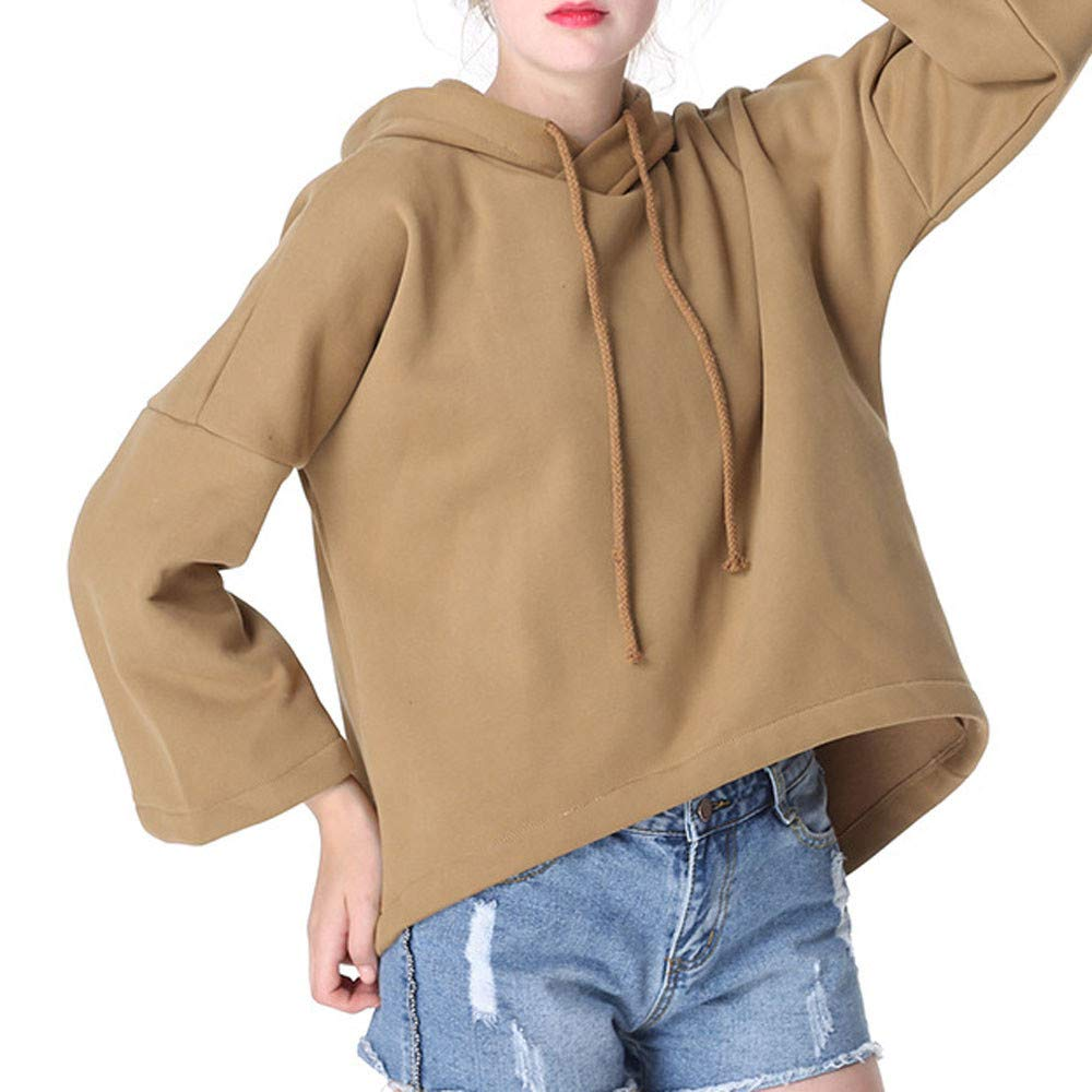 Dainzuy Ladies Sexy Casual Tops,Women Long Sleevel Hooded Coat Blouse T-Shirt