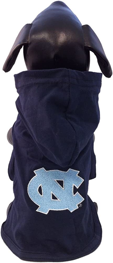 NCAA North Carolina Tar Heels Collegiate Cotton Lycra Hooded Dog Shirt