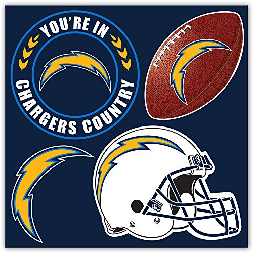 - NFL Los Angeles Chargers 4-Piece Magnet Set, Navy,