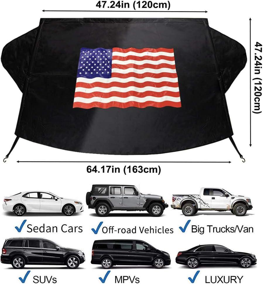 American Flag Car Sun Shade for Most Sedans SUV Truck Blocks UV Rays Sun Visor Protector and Keeps Your Vehicle Cool Big Ant Windshield Sunshades