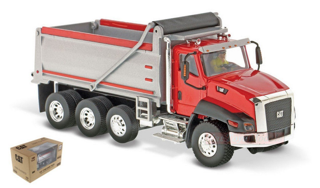 DIECAST MASTER DM85502 CAT CT660 DUMP TRUCK rot 1 50 MODELLINO DIE CAST MODEL