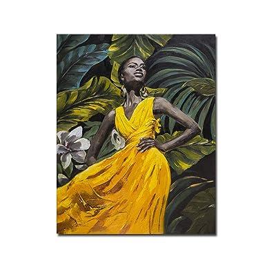 bienddyicho Arte de Pintura Colgante Moderno Pintado para decoración de Fondo Colgante de Pared PH-06163 -Blanco: Juguetes y juegos