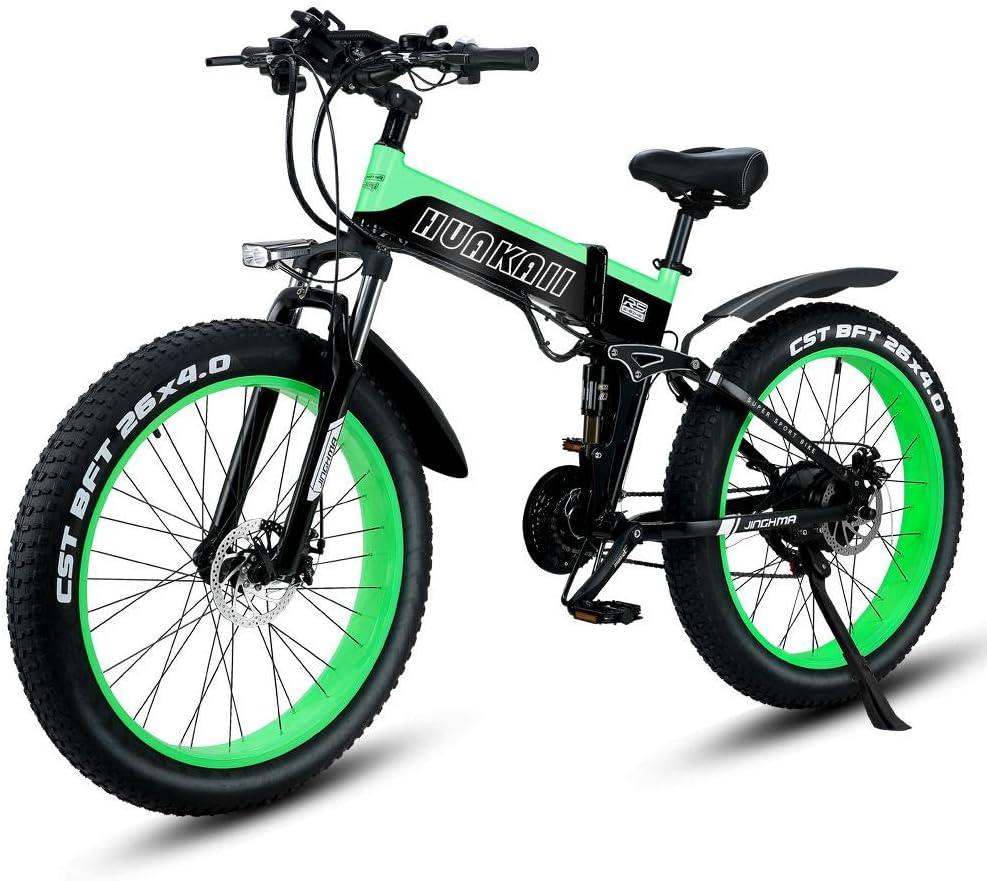 Shengmilo Bicicletas eléctricas de 26 Pulgadas, Bicicleta eléctrica de montaña Plegable, 1000W 48V13ah, batería de células, Bicicleta eléctrica, Bicicleta eléctrica para Hombres de Mujeres